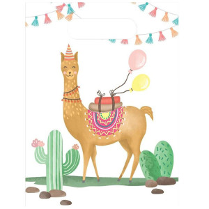 Loveable Llama Plastic Party Bags (6)