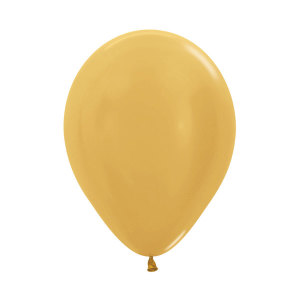 Metallic Pearl Gold Latex Balloons(5)