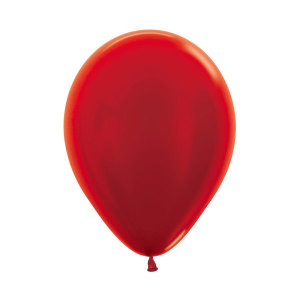 Metallic Pearl Red Latex Balloons (5)