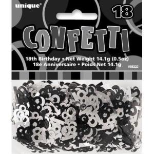 Age 16 Glitz confetti Black and Silver