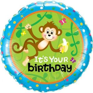 Monkey Go Bananas 18inch Foil Balloon