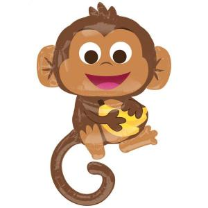 Happy Monkey Foil Balloon Supershape