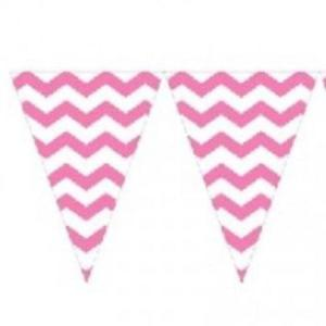 Candy Pink Chevron Bunting
