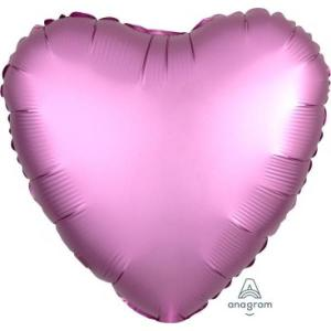 Satin Luxe Flamingo Heart Foil Balloon 18inch