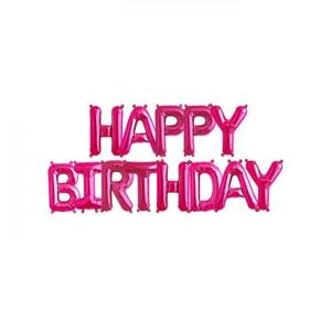 Pink Happy Birthday Foil Letter Balloons 17 inch