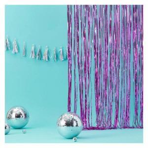 Pink Foil Fringe Backdrop