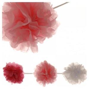 Pink Garland Pom Poms