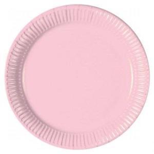 Light Pink Paper Plates (10)