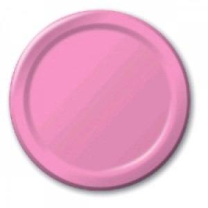 Cerise Pink Paper Plates Large (8)
