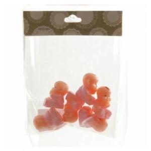 Plastic Babies Pink 2.5cm (6pc)