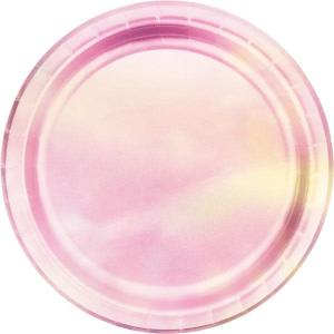 Pearlescent Iridescent Paper Plates (8)