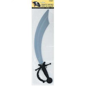 Pirate Sword Silver with Black Handle
