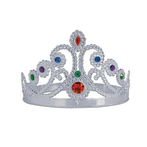 Silver Tiara with Gems