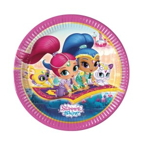 Shimmer and Shine Glitter Friends Paper Plates(8)