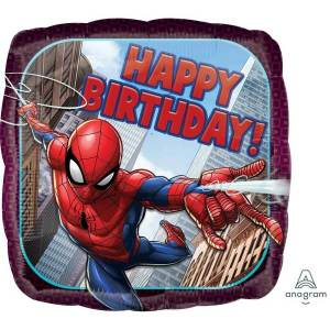Spiderman Happy Birthday Balloon 18 inch