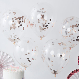 Pick & Mix - Confetti Balloons ROSE GOLD (5)