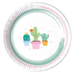 Happy Little Cactus Paper Plates (8)