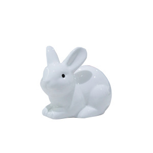 White Ceramic Little Sitting Bunny