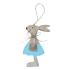 Blue Wooden Hanging Bunny