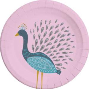 Birds of a Feather Peacock Plates (8)