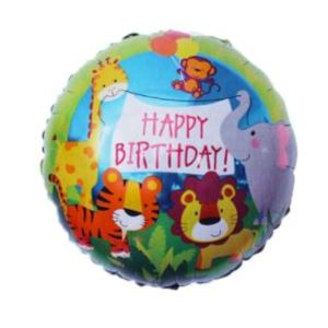 Animal Jungle Birthday 18 Inch Foil Balloon
