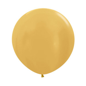 Gold 24 inch latex balloon (60cm)