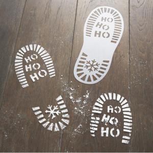 Santa & Friends - Santa Foot Print Stencil