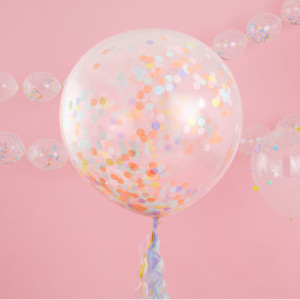Pastel Party Giant Confetti Balloons (3)