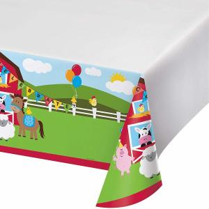 Farmhouse Fun Plastic Table Cover