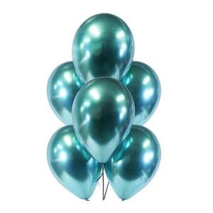 Teal Green Chrome Balloons (5)