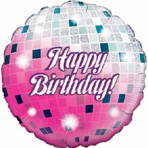 Disco Glitter Ball Foil Balloon 18 inch