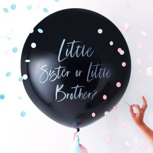 Rose Gold Baby Shower Little Sister or Little Brother Balloon Kit