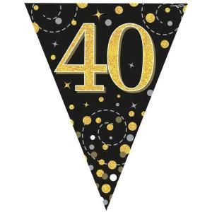 Sparkling Fizz Bunting 40th Birthday