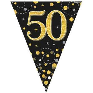 Sparkling Fizz Bunting 50th Birthday