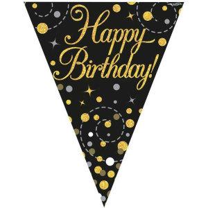 Sparkling Fizz Bunting Happy Birthday