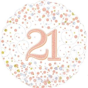 Sparkling Rose Gold 18 inch Foil Balloon 21st Birthday