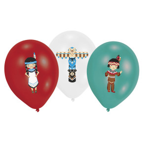 Tepee and Tomahawk Latex Balloons (6)