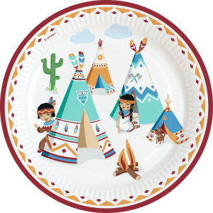 Tepee and Tomahawk Paper Plates (8)