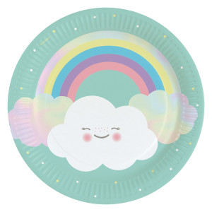 Happy Little Cloud Paper Plates (8)