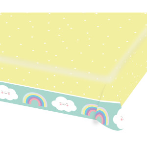 Happy Little Cloud Paper Table Cover