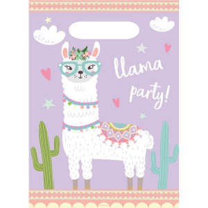 Oh My Llama Plastic Party Bags (8)