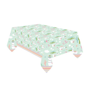 Oh My Llama Plastic Table Cover
