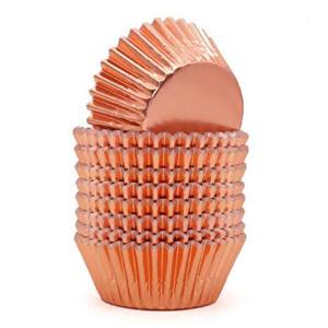 Rose Gold Metallic Cupcake Cases 12cm (100)
