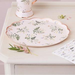 Lets ParTea Floral Paper Plates (8)