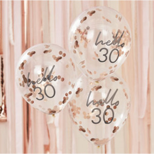 Mix It Up Hello 30 Confetti Balloons (5)