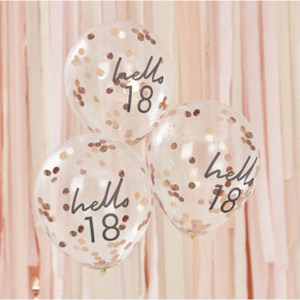 Mix It Up Hello 18 Confetti Balloons (5)