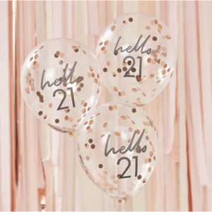 Mix It Up Hello 21 Confetti Balloons (5)