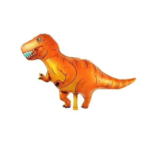 Orange T Rex  Foil Balloon 84 x 42cm