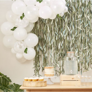Botanical Baby Mini White Balloon Arch Kit