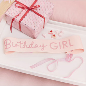 Pamper Party Birthday Girl Sash